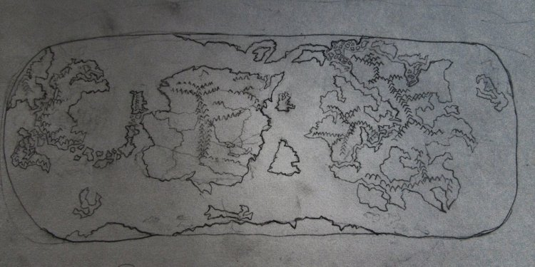 Rough sketch of a map by