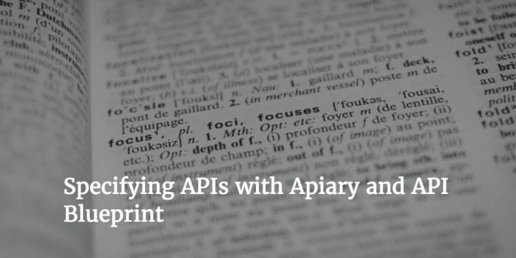 Writing API specs with Apiary